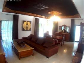 Loungen på andra våningen, med TV