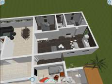 3D vy av lägenheten