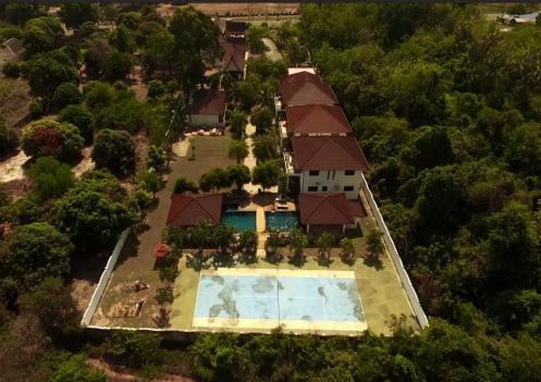 Flygfoto av hela CET resort